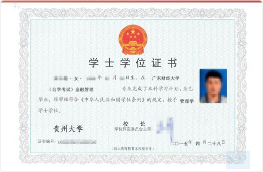 贵州大学学位证
